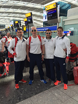 GB shooting team at Heathrow Terminal 5