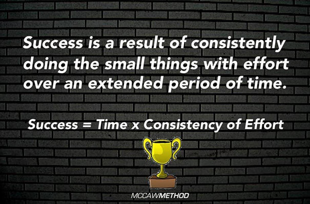 success = time x consistency of effort